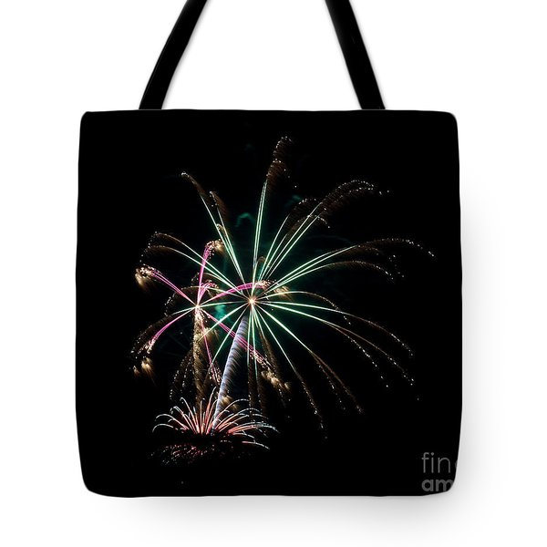 Tote Bag featuring the photograph Fireworks 11 by Mark Dodd