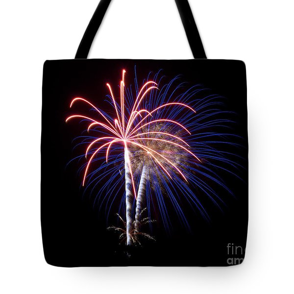 Tote Bag featuring the photograph Fireworks 12 by Mark Dodd