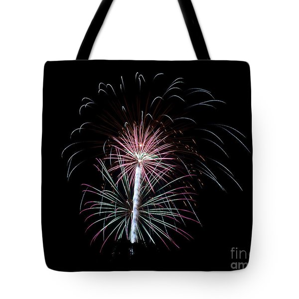 Tote Bag featuring the photograph Fireworks 13 by Mark Dodd