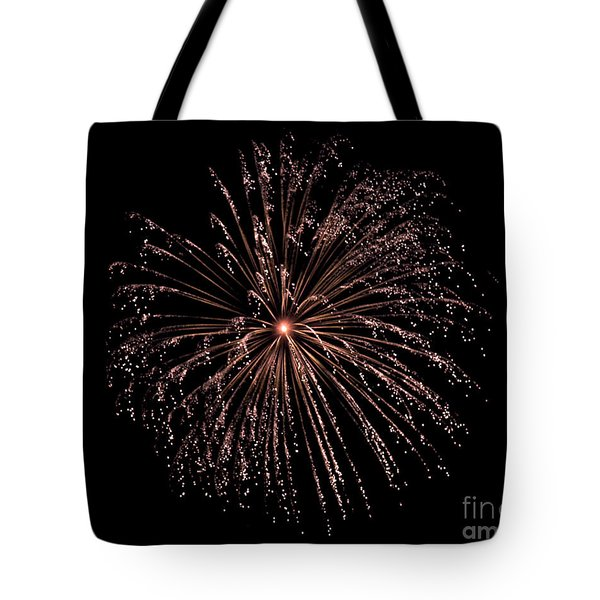 Tote Bag featuring the photograph Fireworks 3 by Mark Dodd