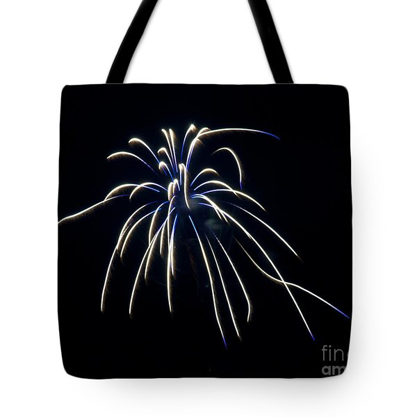 Tote Bag featuring the photograph Fireworks 4 by Mark Dodd