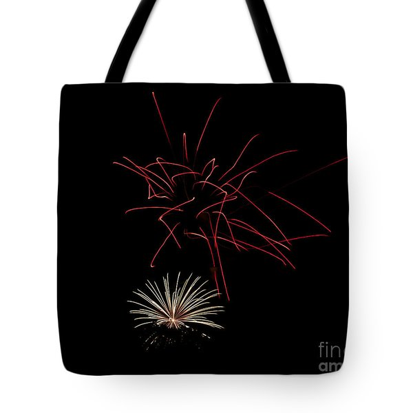 Tote Bag featuring the photograph Fireworks 6 by Mark Dodd