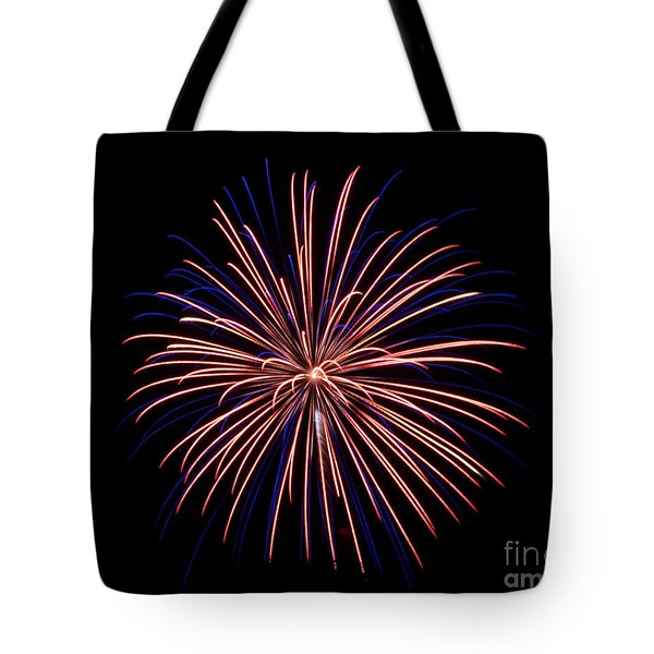 Tote Bag featuring the photograph Fireworks 7 by Mark Dodd