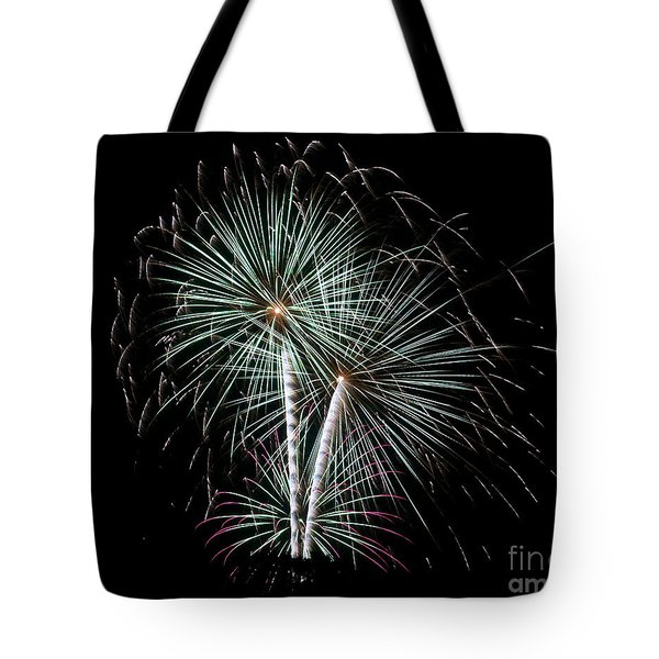 Tote Bag featuring the photograph Fireworks 8 by Mark Dodd