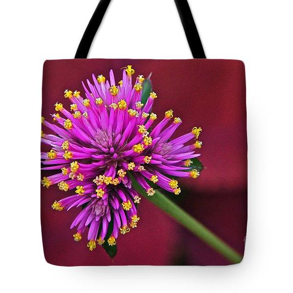 Fireworks Flower Tote Bag by Byron Varvarigos
