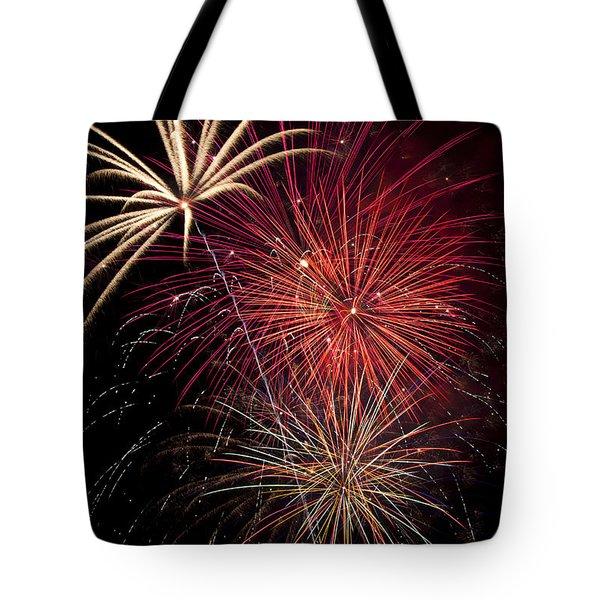 Fireworks Tote Bag by Garry Gay