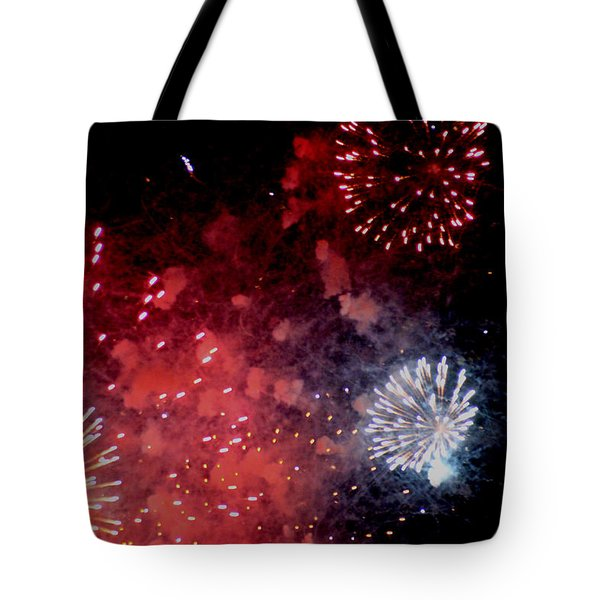 Tote Bag featuring the photograph Fireworks II by Kelly Hazel