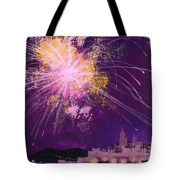 Fireworks In Malta Tote Bag by Angss McBride