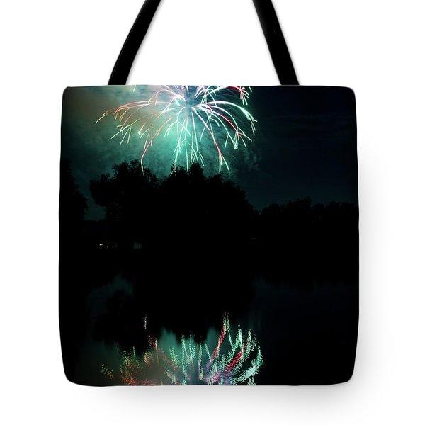 Fireworks On Golden Ponds. Tote Bag by James BO  Insogna