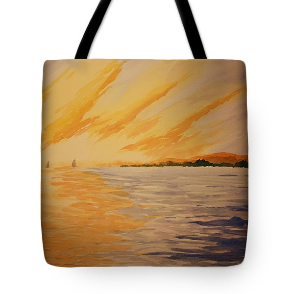 Firey Sunset Tote Bag by Jeff Lucas
