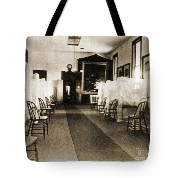 First Aid Hospital Exhibit, 1876 Tote Bag by Science Source