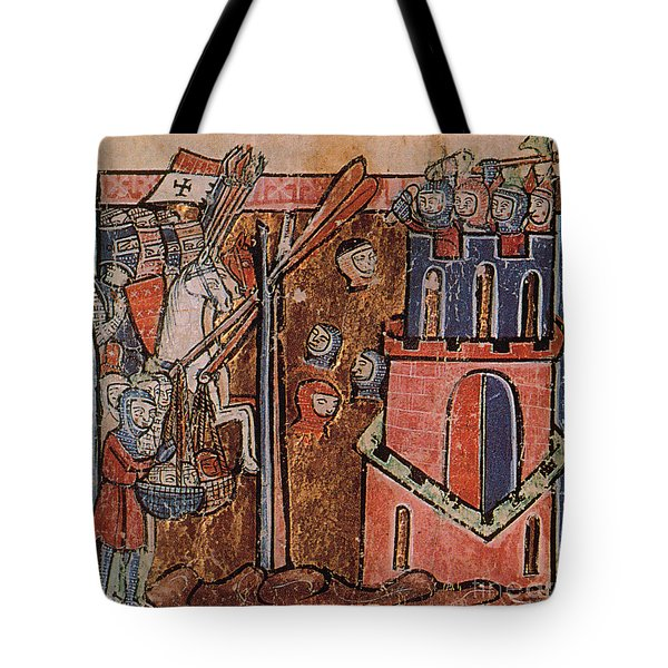 First Crusade Germ Warfare Siege Tote Bag by Photo Researchers