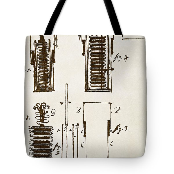 First Electric Battery Tote Bag by Science Source
