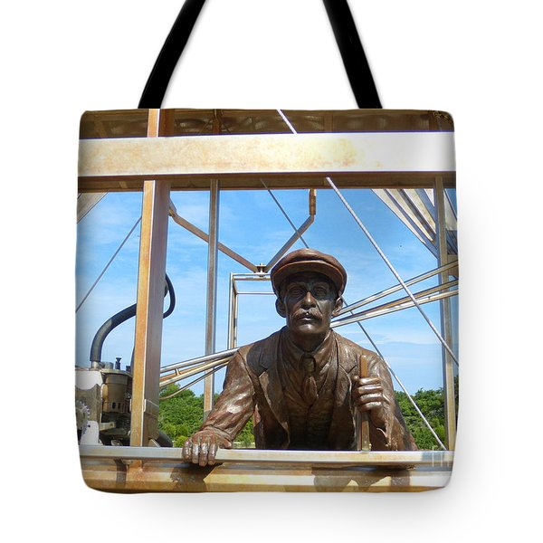 Tote Bag featuring the sculpture First In Flight  by Lydia Holly