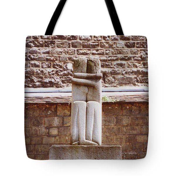 Tote Bag featuring the photograph First Kiss In The City Of Love by Ann Johndro-Collins