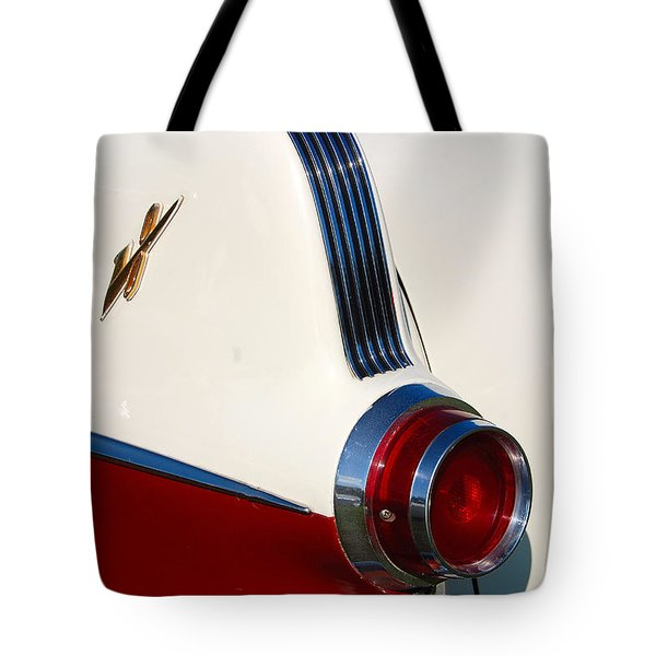 Tote Bag featuring the photograph First Pontiac V8 1955 by John Schneider