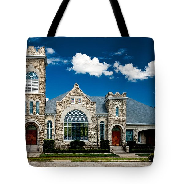 First Presbyterian Church Of Eustis Tote Bag by Christopher Holmes