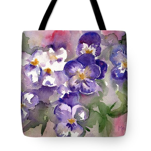 Best bag for aesthetic items lovers Pansy Flowers Purple cotton tote bag Floral gift for her
