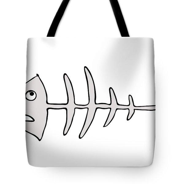 Fish Skeleton - Fishbones Tote Bag by Michal Boubin