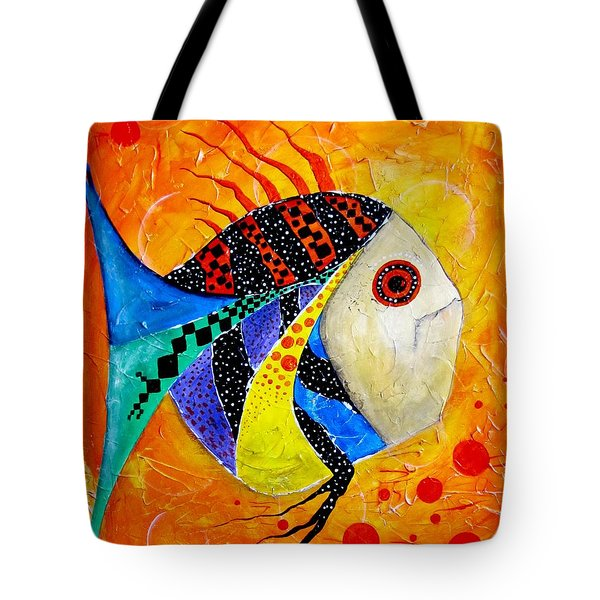 Fish Splatter II Tote Bag