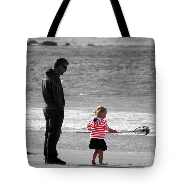 Tote Bag featuring the photograph Fish With Me Daddy by Terri Waters