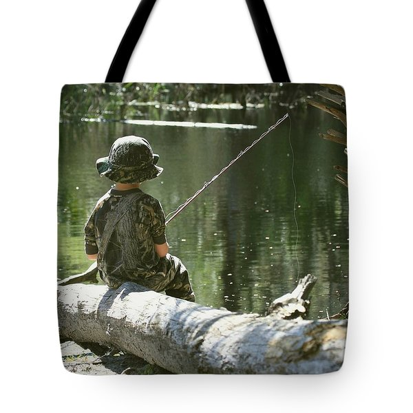 Fishin' And Wishin' Tote Bag