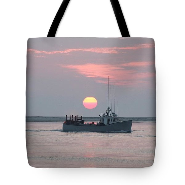 Fishing At Sunrise In Chatham Tote Bag