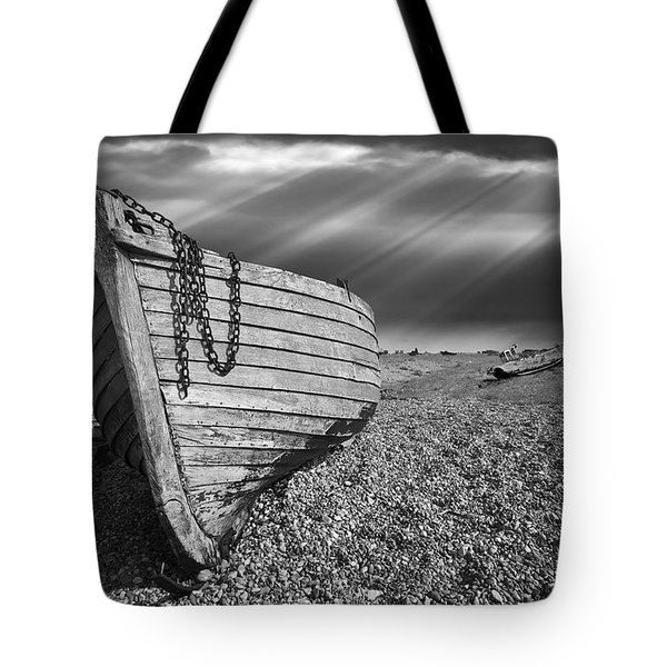 Fishing Boat Graveyard 2 Tote Bag by Meirion Matthias