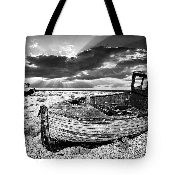 Fishing Boat Graveyard Tote Bag by Meirion Matthias