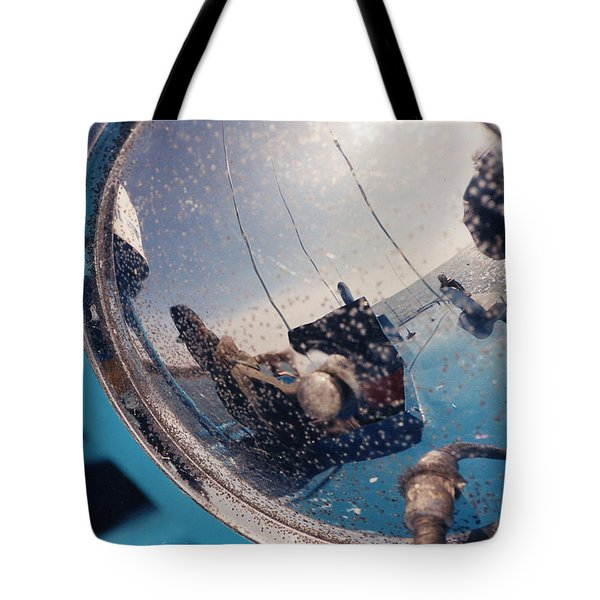Fishing Boat Reflection Tote Bag