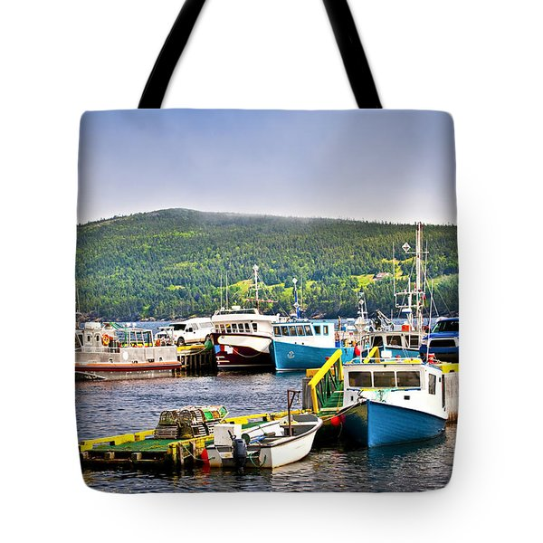 Fishing Boats In Newfoundland Tote Bag by Elena Elisseeva