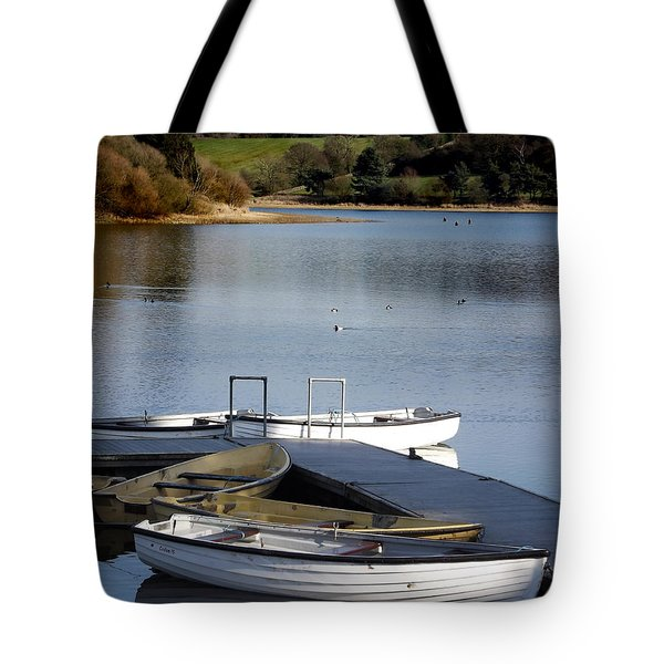 Fishing Boats Tote Bag by Linsey Williams