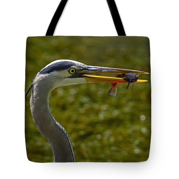 Fishing For A Living Tote Bag by Tony Beck