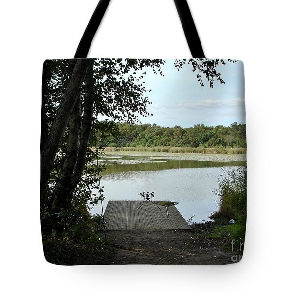 Tote Bag featuring the photograph Gone Fishing by Katy Mei
