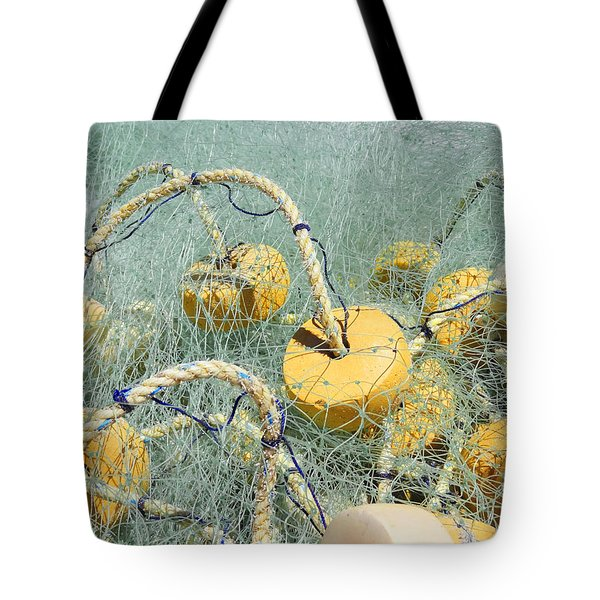 Fishing Nets And Weights Tote Bag by Anne Mott