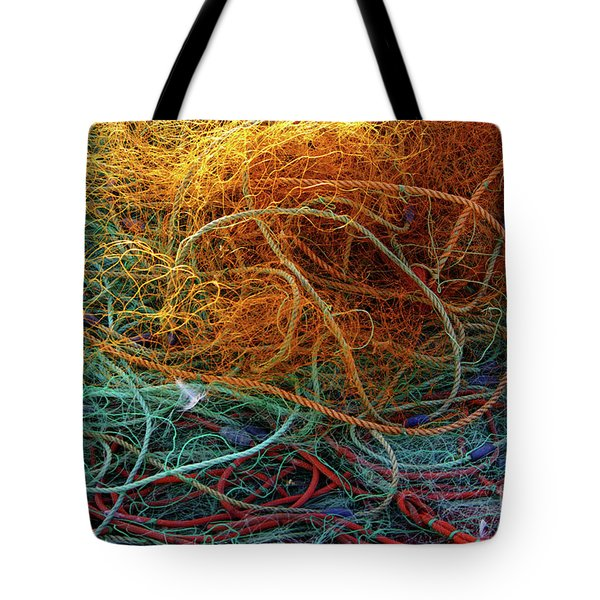 Fishing Nets Tote Bag by Carlos Caetano