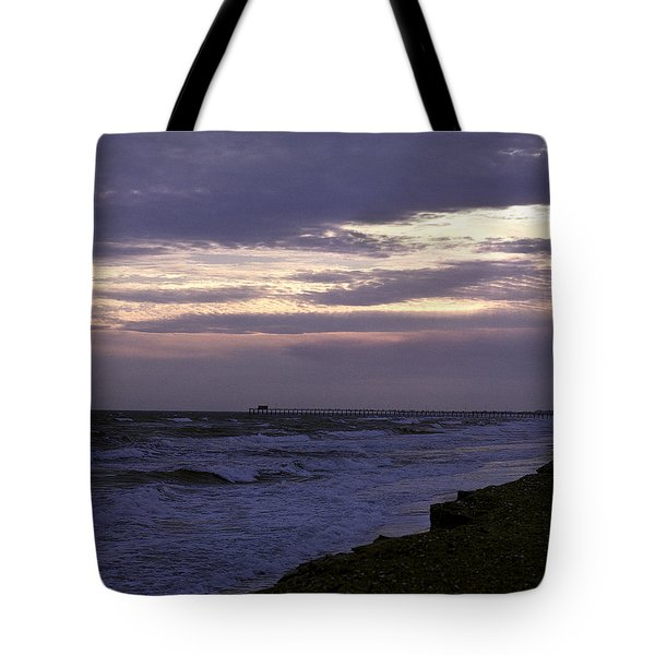 Tote Bag featuring the photograph Fishing Pier Before The Storm 14a by Gerry Gantt
