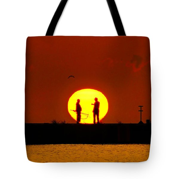 Fishing Report Tote Bag by Bill Pevlor