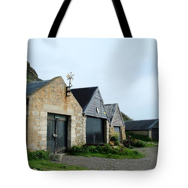 Tote Bag featuring the photograph Fishman Shed by Katy Mei