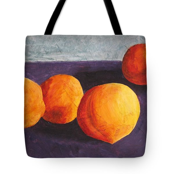 Five Peaches Tote Bag by Dina Day