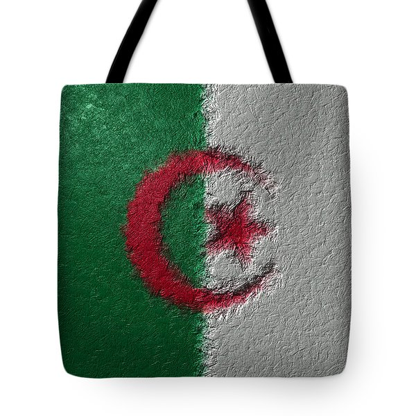 Tote Bag featuring the digital art Flag Of Algeria by Jeff Iverson