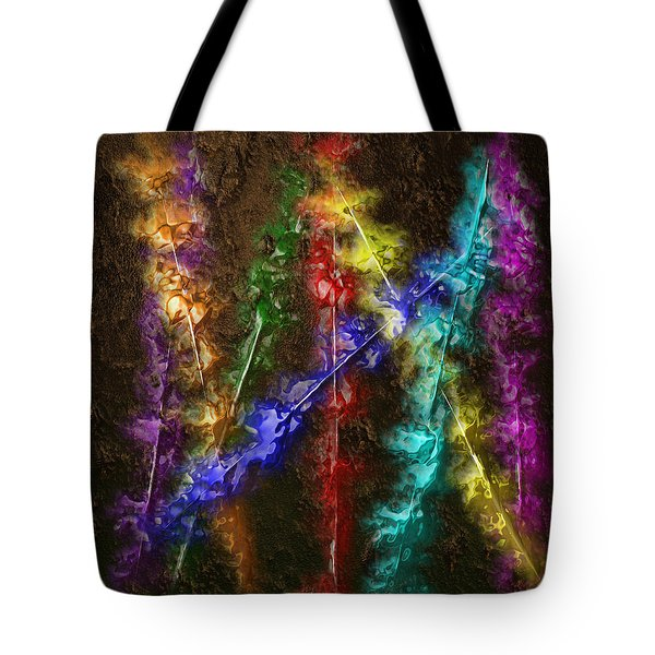 Flaming Arrows Tote Bag by Michael Hurwitz