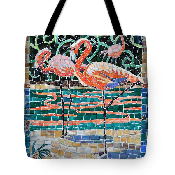 Flaming Flamingos Tote Bag