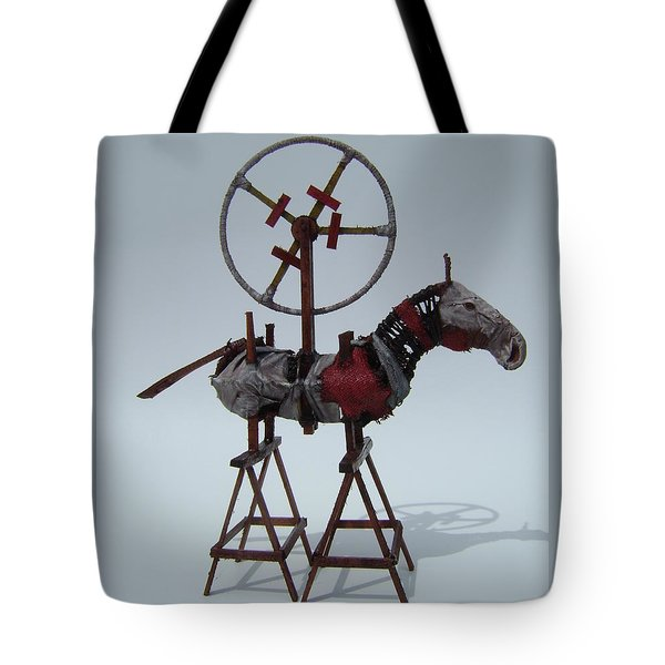 Flaming Heart Tote Bag
