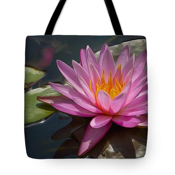 Flaming Waterlily Tote Bag