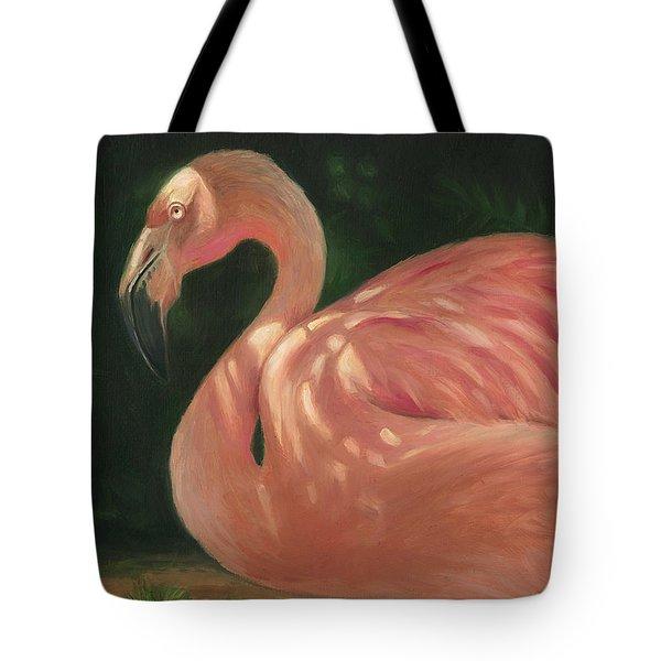Flamingo In Dappled Light Tote Bag