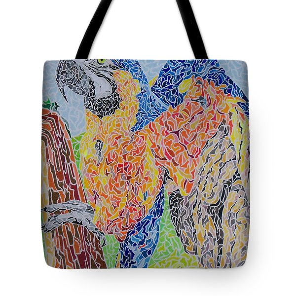Flapping Color Tote Bag by Steve Teets