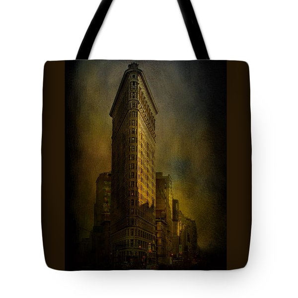 Flatiron Building...my View..revised Tote Bag by Jeff Burgess