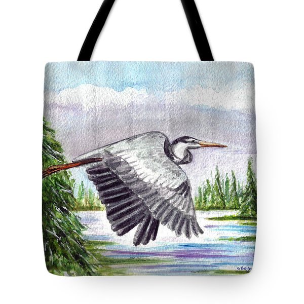 Tote Bag featuring the painting Flight Of Fantasy by Clara Sue Beym