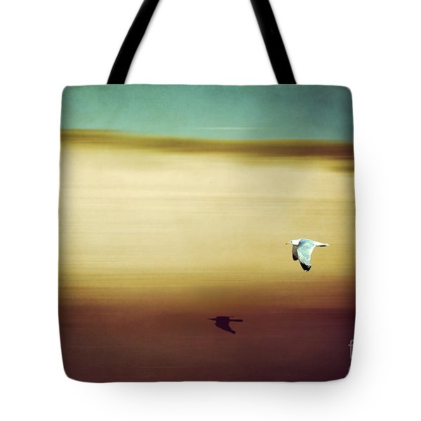 Flight Over The Beach Tote Bag by Hannes Cmarits